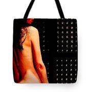 Smoking Nude Tote Bag