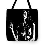 Smoking Nude Tote Bag