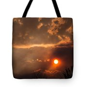 Smoky Clouds Over The Rogue Valley Tote Bag