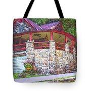 Old Log Cabin - Smoky Mountain Home Tote Bag