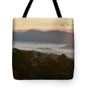 Smoky Mountain Morning Tote Bag