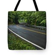 Smoky Mountain Road After Spring Rain E70 Tote Bag