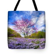 Smoky Mountain Spring Tote Bag