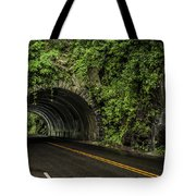 Smoky Mountain Tunnel In The Rain E123 Tote Bag