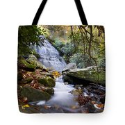 Smoky Mountain Waterfall Tote Bag