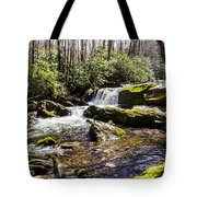 Smoky Mountain Waterfalls Tote Bag