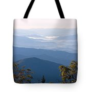 Smoky Mountains From Clingmans Dome Tote Bag