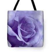 Smoky Purple Rose Flower Tote Bag