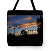 Smoky Sky The Morning After Fire Tote Bag