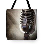 Smoky Vintage Microphone Tote Bag