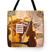 Smooth Jazz Tote Bag