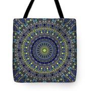 Smooth Squares Kaleidoscope Tote Bag
