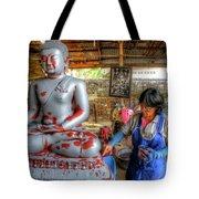 Smoothing Buddha Tote Bag