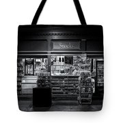 Snack Shop Bw Tote Bag