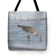 Snacking Sandpiper Tote Bag