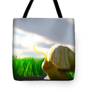 Snail And Grass... Tote Bag