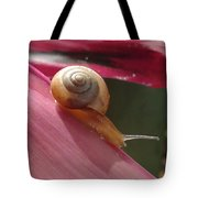 Snail In Motion Tote Bag