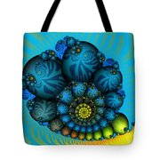 Snail Mail-fractal Art Tote Bag by Karin Kuhlmann