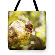 Snail Of A Time Tote Bag