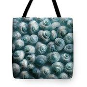 Snails Cyan Tote Bag by Priska Wettstein