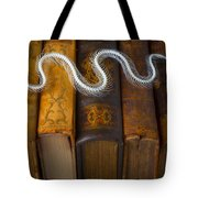 Snake And Antique Books Tote Bag