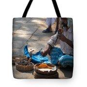 Snake Charmer Hampi Bazaar Tote Bag