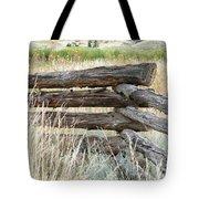 Snake Fence And Sage Brush Tote Bag