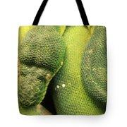Snake In Green Dress Tote Bag