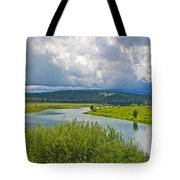 Snake River By Oxbow Bend In Grand Teton National Park-wyoming Tote Bag
