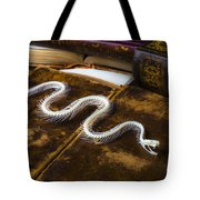 Snake Skeleton And Old Books Tote Bag