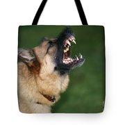 Snarling German Shepherd Dog Tote Bag