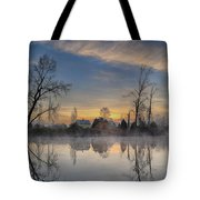 Dawn On The Snohomish Tote Bag