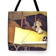 Snoopy In His Biplane Tote Bag