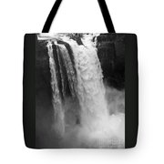 Snoqualmie Falls - Black And White Tote Bag