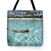 Snorkeling In Polynesia Tote Bag