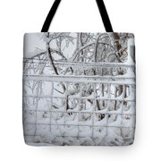Snow - Ice - Fence Tote Bag