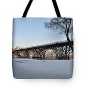 Snow Along Kelly Drive Tote Bag