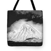 Snow And Clouds On Mt. Ngauruhoe 2 Tote Bag