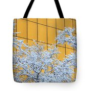 Snow And Golden Glass Tote Bag