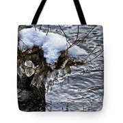 Snow And Icicles No. 2 Tote Bag