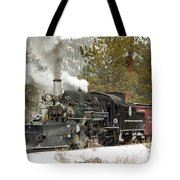 Snow And Steam Tote Bag