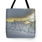 Snow And The Sierra Highway 88 Tote Bag