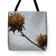 Snow And Thistles Tote Bag