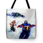 Snow Angels Tote Bag