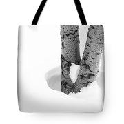 Snow Around The Tree Tote Bag