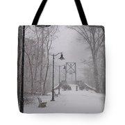 Snow At Bulls Island - 05 Tote Bag