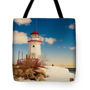 Snow At Cheboygan Crib Tote Bag