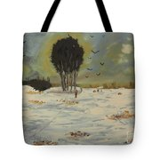 Snow At Christmas Tote Bag