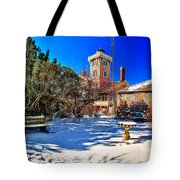 Snow At Hereford Inlet Tote Bag