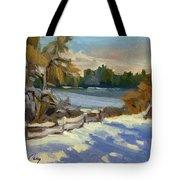 Snow At Martha Lake Tote Bag